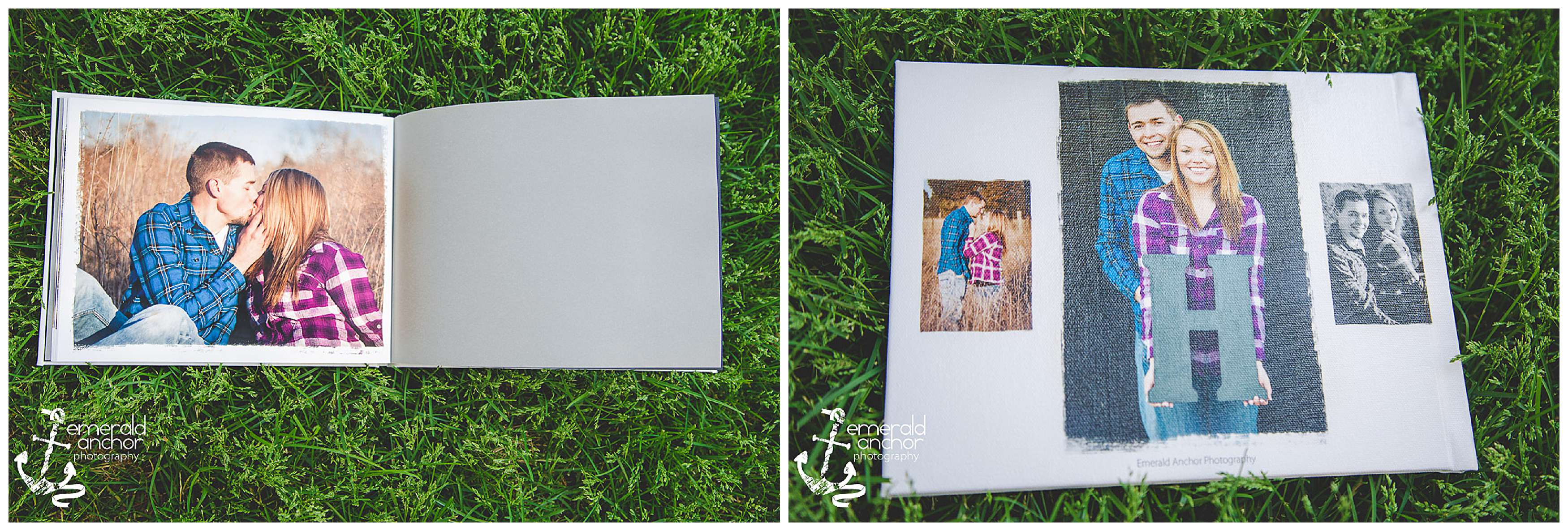 Emerald anchor photography engagement album guest book